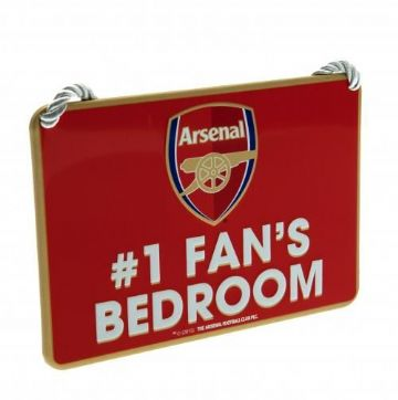 Arsenal Number One Fan Bedroom Sign